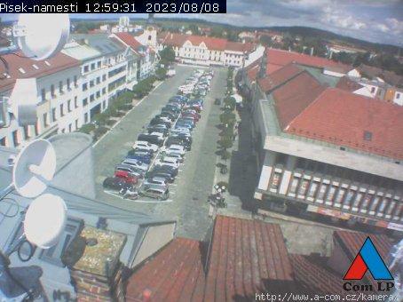 Online kamera Velké náměstí v Písku